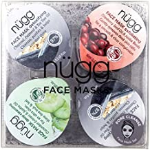 nügg Pore Cleanse Face Mask Set for Oily, Combination & Acne Prone Skin; Pack of 4 Face Mask Pods to Deeply Cleanse, Unclog Pores, Detox & Exfoliate Skin (4 x 0.33fl.oz.)
