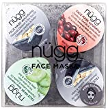 Cleansing Oil Emulsifier - nügg Pore Cleansing Face Mask Set for Oily, Combination & Acne Prone Skin; Pack of 4 Face Mask Pods to Deeply Cleanse, Unclog Pores and Blackheads, Detox & Exfoliate Skin (4 x 0.33fl.oz.)