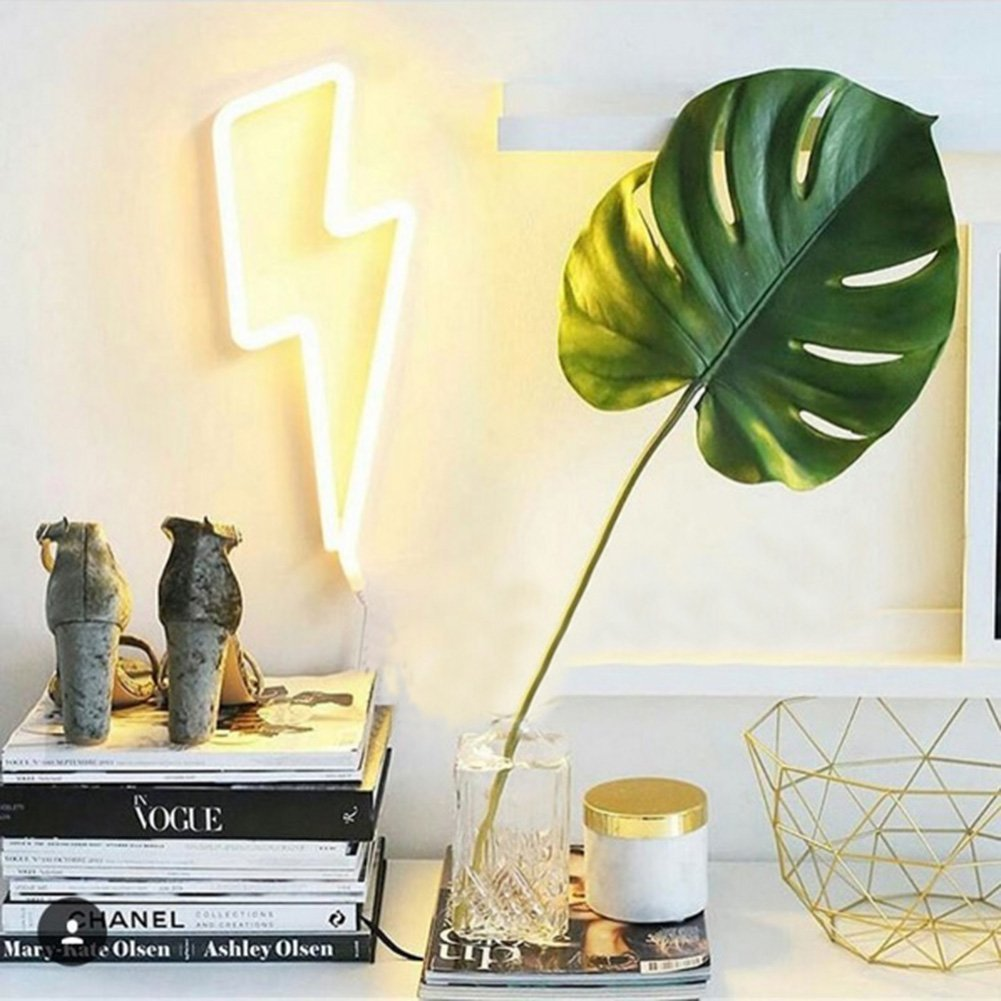 Lightning Bolt Neon Signs Light Led Neon Art Decorative Lights Wall Decor for Children Baby Room Hose Bar Recreational Wedding Party Decoration