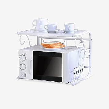 Organisieren Speicherschranke Kuche Mikrowelle Regal Retractable