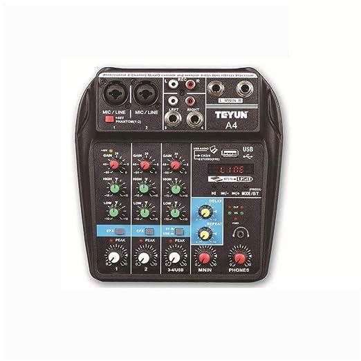 Mesas de mezclas A4 Mezclador de escenario puro de 4 canales ...