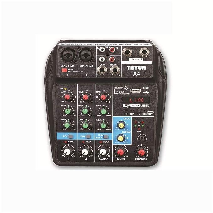 Wanlianer-Musical A4 Mezclador de Escenario Puro de 4 ...
