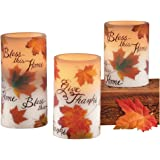 Led Bless This Home Fall Candle Set
