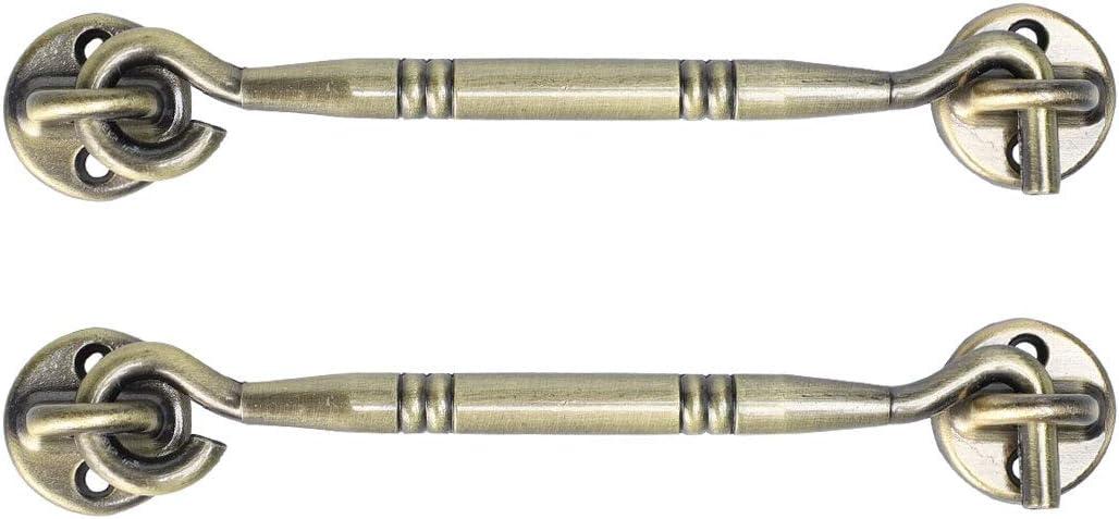 Uxcell - Gancho de aleación de zinc, para puerta de armario o puerta de cobertizo, 6 pulgadas: Amazon.es: Bricolaje y herramientas