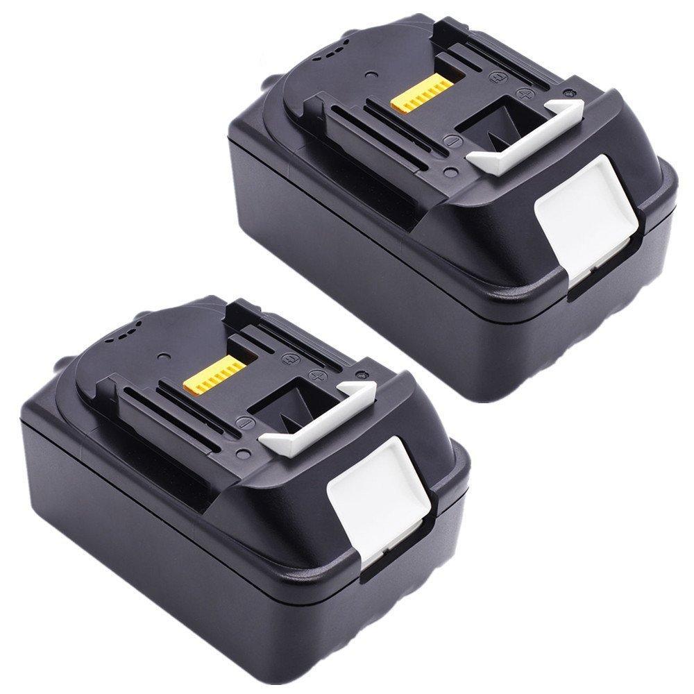 Golem-power BL1840 2 pezzi Li-ion utensili elettrici Batteria di ricambio batteria ricaricabile 18V 4.0Ah 4000mAh compatibile per Makita BL1830 BL1840 BL1815 196399-0