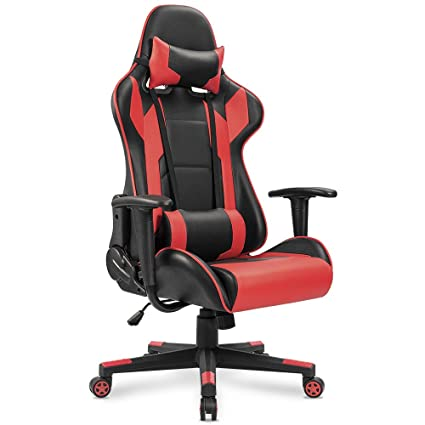 amazon com homall gaming chair racing style high back faux leather rh amazon com desk chairs amazon uk office chairs amazon canada