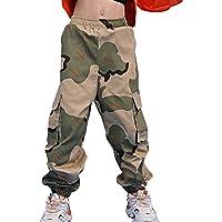 dPois Pantalones de Camuflaje para NIños Unisex Pantalones Largos Pants Cargo de Moda Pantalones Militares Sueltos…
