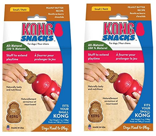 KONG Stuff N Mini Liver Snaps Dog Treat [Set of 2] Flavor: Peanut - Liver Kong Stuffn
