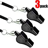 Fya Whistle, Professional Sports Whistle with Lanyard, Very Loud Pealess Whistle, Perfert for Coaches, Referees, Lifeguards (Color: Black)