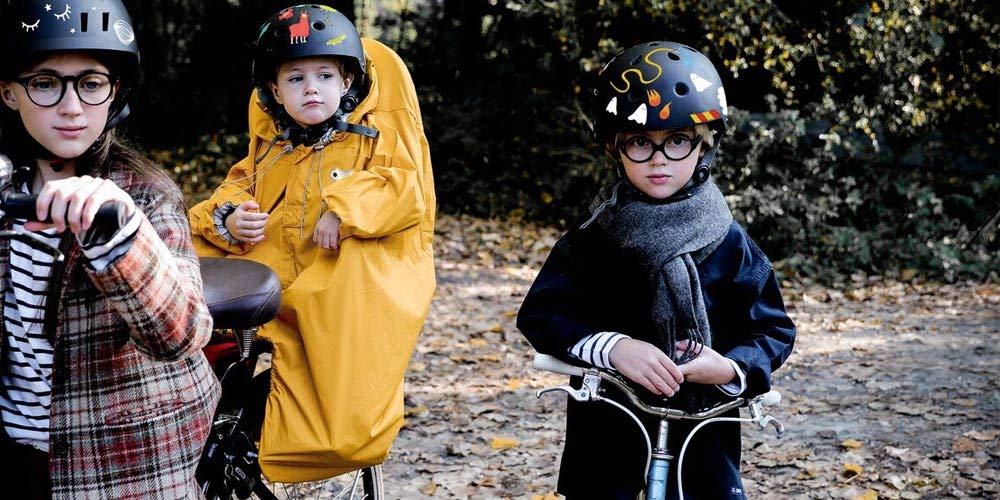 Rainette Regenschutz für Kinderfahrrad, Gelb