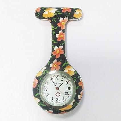 HSDDA Patrón de impresión en Color Enfermera Reloj Enfermera Unisex Colgando Reloj Enfermeras Gel de sílice