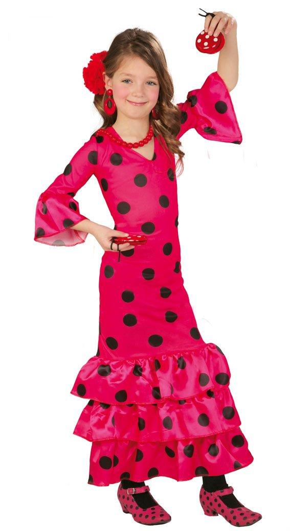 Guirca Disfraz Andaluza, talla 3-4 años, color rosa (83168): Amazon.es: Juguetes y juegos