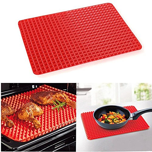 UPC 759972437269, Altruism Baking Mats BBQ Silicone Mat Oven Baking Grill Oil Filter Pad Cooking Sheet Mat (Red)