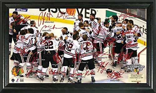 "NHL Chicago Blackhawks 2013 Stanley Cup Champions Celebration Signature Rink, 22"" x 15"" x 4"", Black"