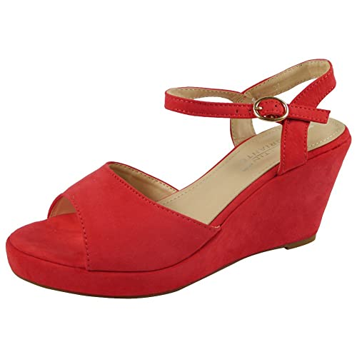 Red Wedge Shoes: Amazon.co.uk