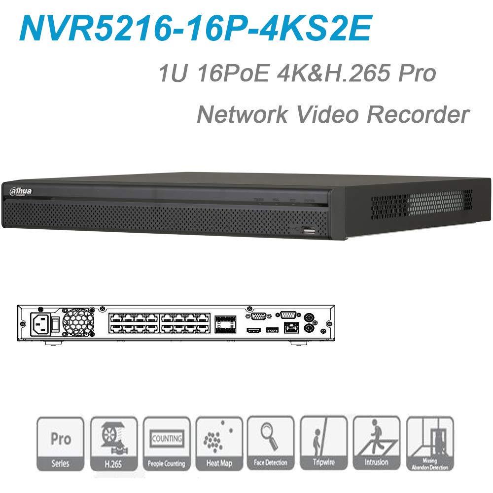 Dahua NVR NVR5216-16P-4KS2E 16 Channel 1U 16PoE 4K&H.265 Pro Network Video Recorder