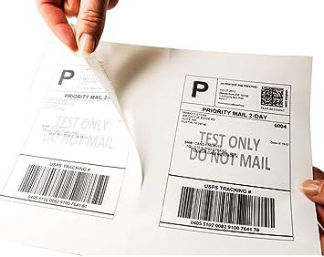 200 MFLABEL Half Sheet Self Adhesive Shipping Labels for Laser  Inkjet Printers
