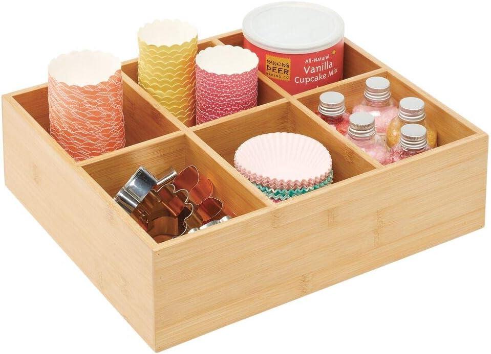 mDesign Caja para guardar té – Elegante caja organizadora con 6 ...