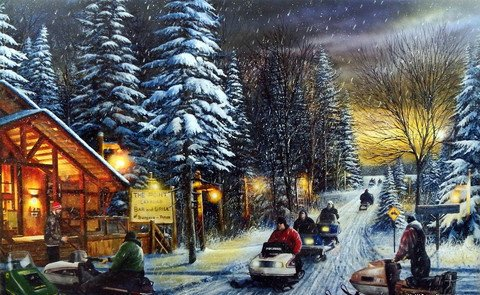 POKER RUN I Signed and Numbered Limited Edition print by Kevin Daniel 29