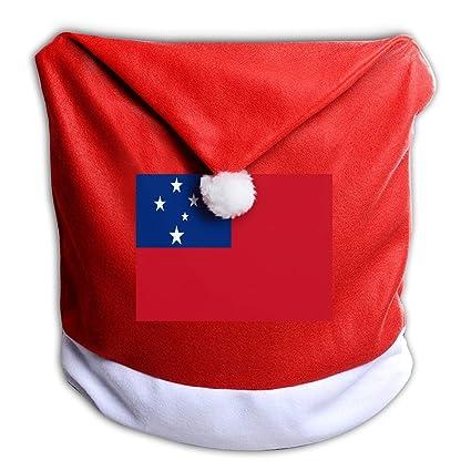 Amazon Com One Suit Samoan Flag Santa Hat Chair Covers Decor Santa