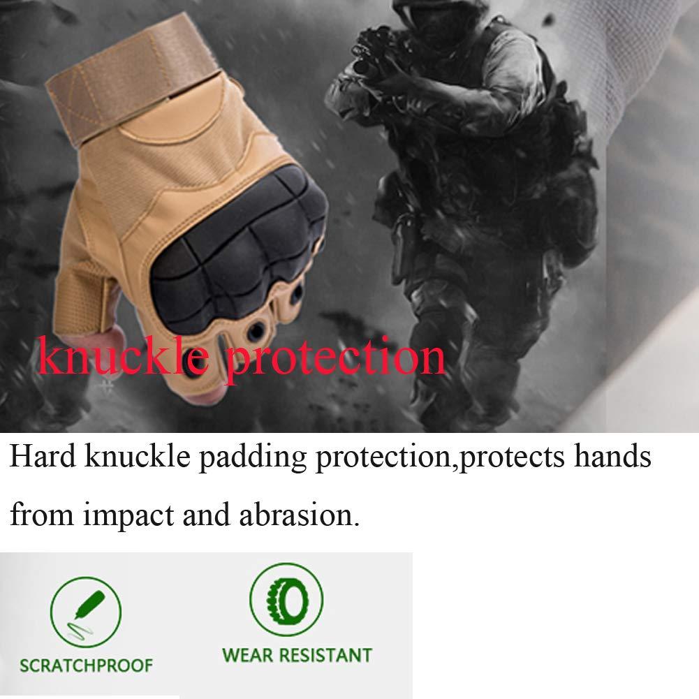 Valpeak Hombres de Medio Dedo Completo Guantes de protecci/ón para Motocicleta Escalada Senderismo Deportes al Aire Libre Guantes
