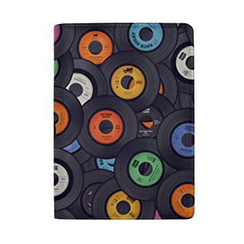 Color Music Posters Card Blocking Print Passport Holder Cover Case Travel Luggage Passport Wallet Card Holder Made With Leather For Men Women Kids Family