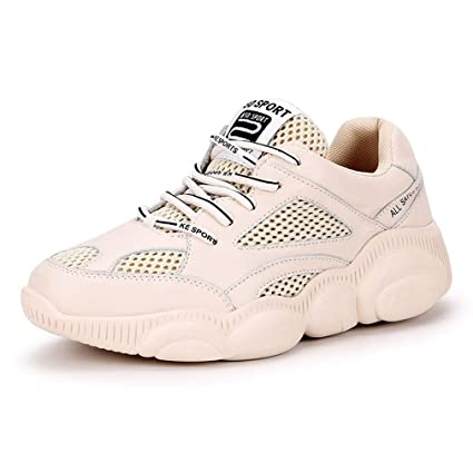 576b2d443f5eb Amazon.com: YXB Women's Sneakers New Spring Leather Mesh Shoes ...