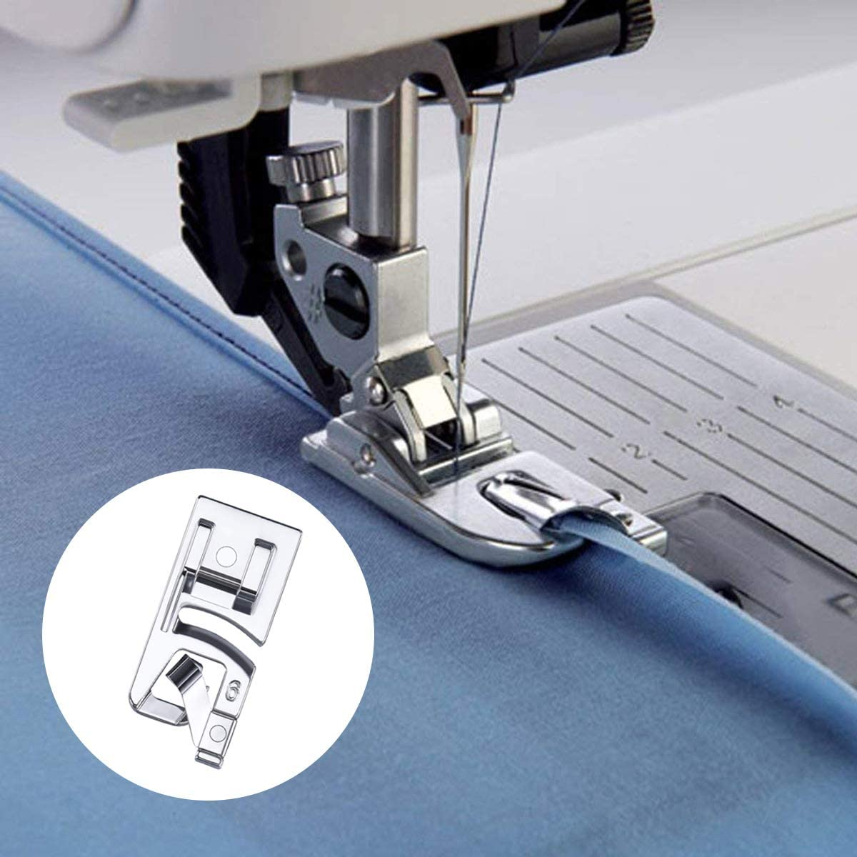 LMYJ - Juego de prensatelas para dobladillo estrecho (3 mm, 4 mm y ...