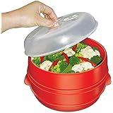 Handy Gourmet JB6216 2-Tier Microwave Steamer