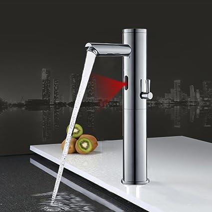 Auralum® Sensor Automático Grifo de Lavabo Fría Y Caliente Mezclador de Grifo Diseño único 3