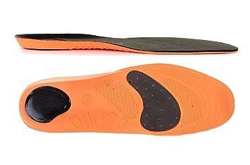 EU 42-47 Plantillas ortopédicas deportivas almohadilla en talón y fascitis plantar periostitis tibial espolón del talón metatarsalgia Sole Control Tech Sports soporte para las rodillas neuroma de Morton