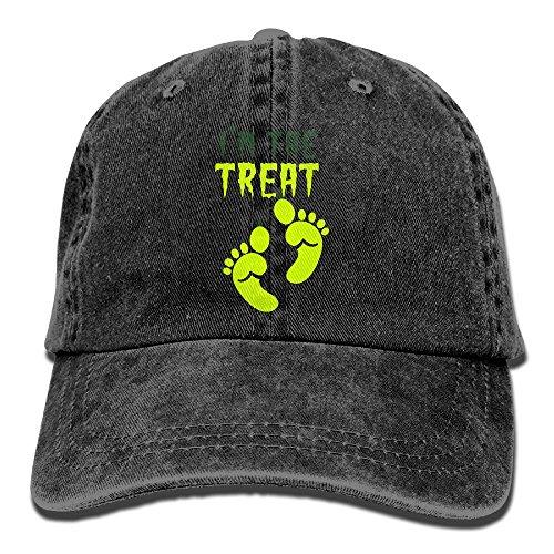 I'm The TREAT Halloween Double Design Ogre Feet Adjustable Adults Mens Womens Custom Jean Hat Black (Sandy Claws Costume)