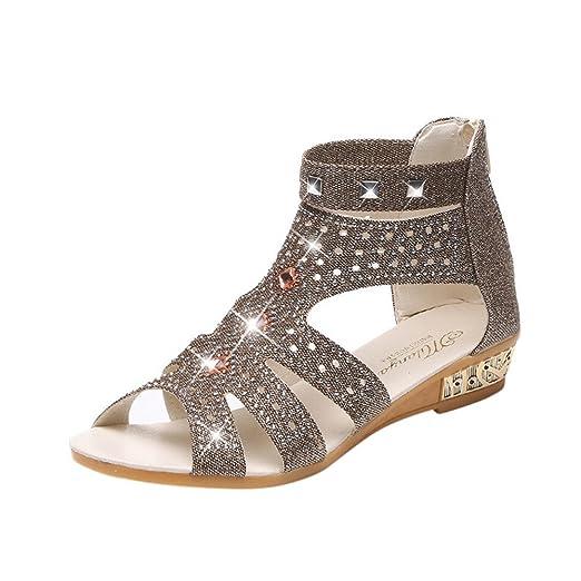 8d8daf084e7a9 Amazon.com: COPPEN Ladies Wedge Sandals Fashion Fish Mouth Hollow ...