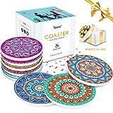 Teivio Absorbing Stone Mandala Coasters for