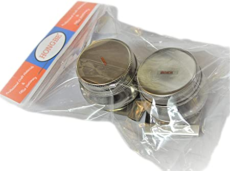 Curtisward Artists Small Metal Single Palette Dipper With Lid.Clip container for Oil mediums