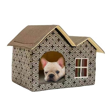 G-lucky casa de Mascotas,Doble Tapa casa de Perro,Gato Perro otoño