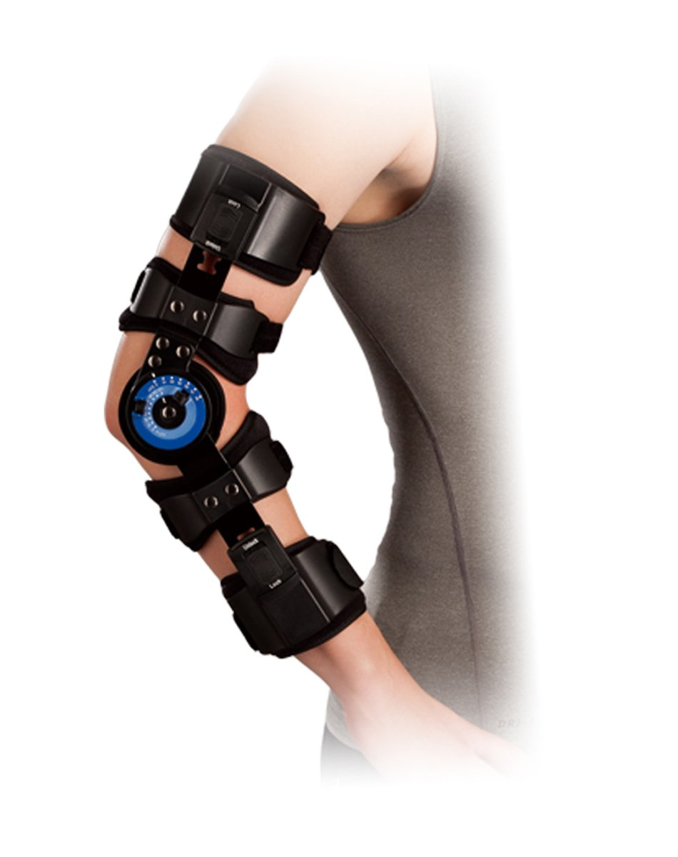 Orthomen ROM Hinged Elbow Brace - Support Post Op Injury Recovery (Left)