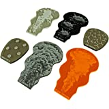LITKO Gaslands Miniatures Game Weapon Effects Templates Set, Multi-Colored (6)