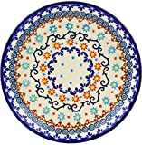 Polish Pottery 7½-inch Dessert Plate (Sunflower Dance Theme) + Certificate of Authenticity
