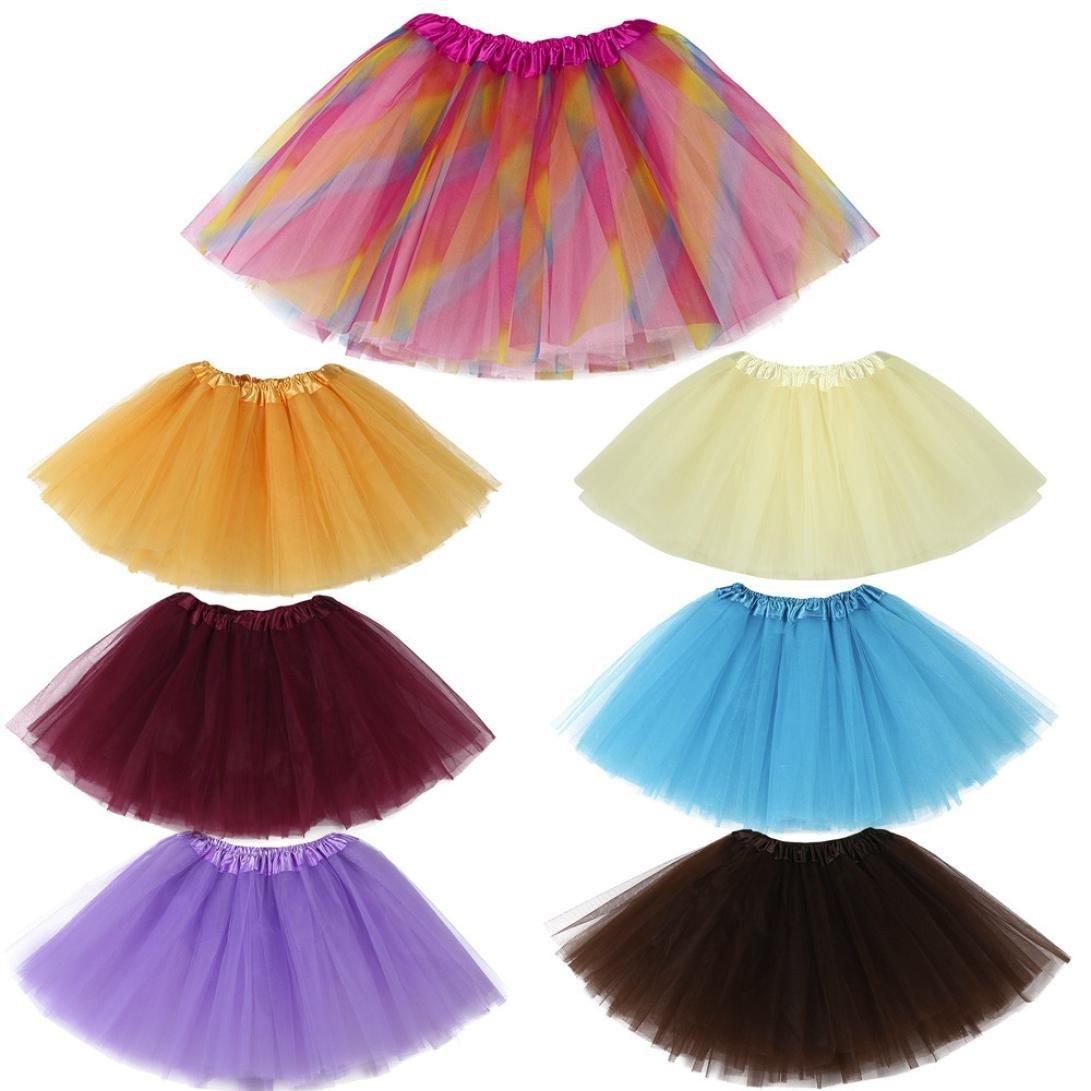 6725d1dcb2cf KaloryWee Girl s Organza Ruffle Tiered Tulle Tutu Ballet Skirt ...
