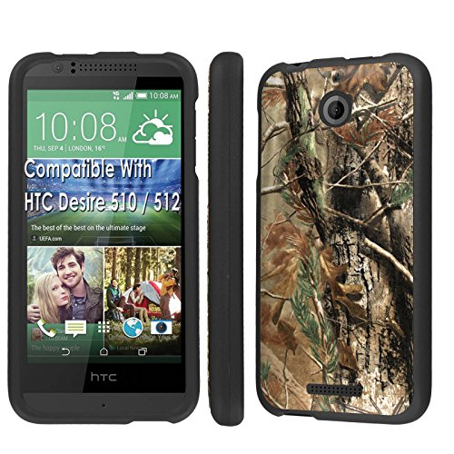 Case, [NakedShield] [Black] Total Armor Protection Case - [Hunter Camouflage] for Htc Desire 510 / 512 ()