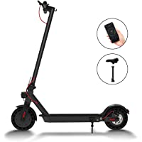 "Hiboy S2 Electric Scooter - 8.5"" Solid Tires - Up to 17 Miles Long-Range & 18 MPH Portable Folding Commuting Scooter for Adults with Double Braking System and App"