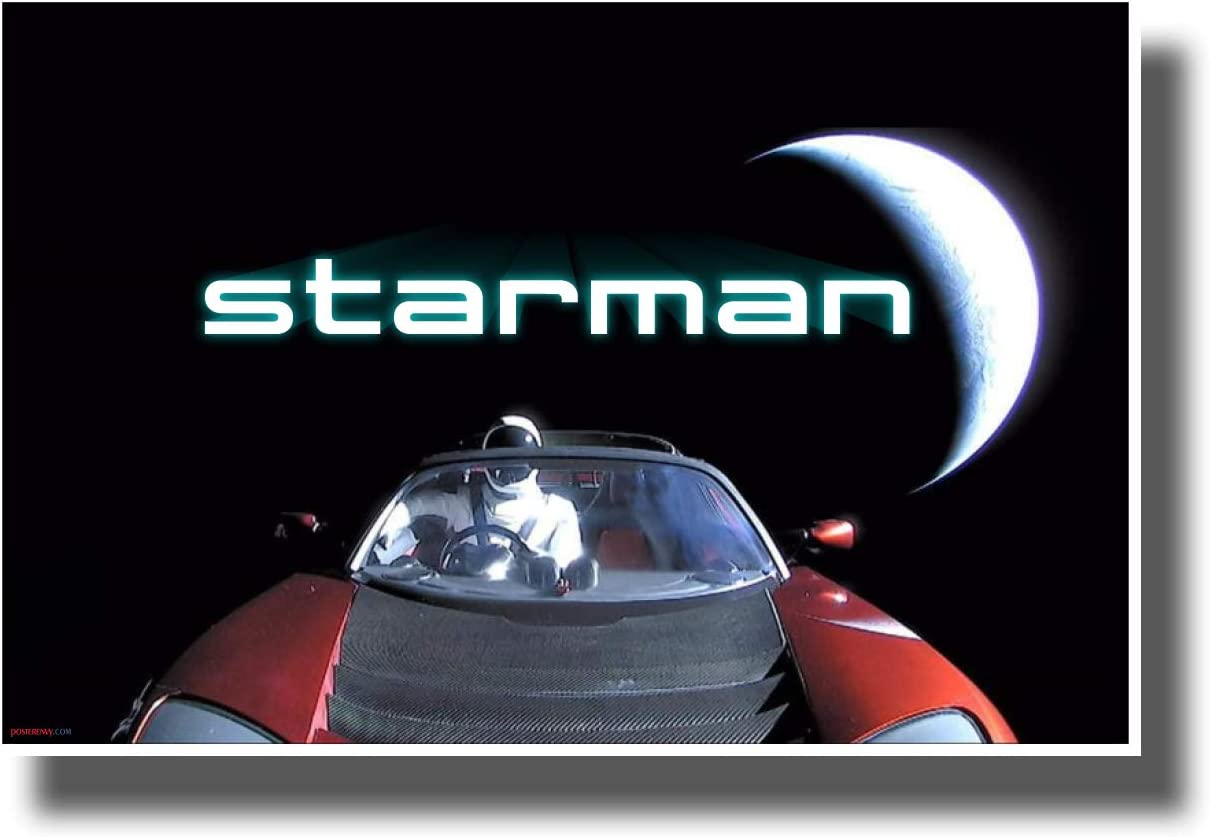 PosterEnvy Starman - SpaceX Elon Musk - New Space Exploration Science Poster