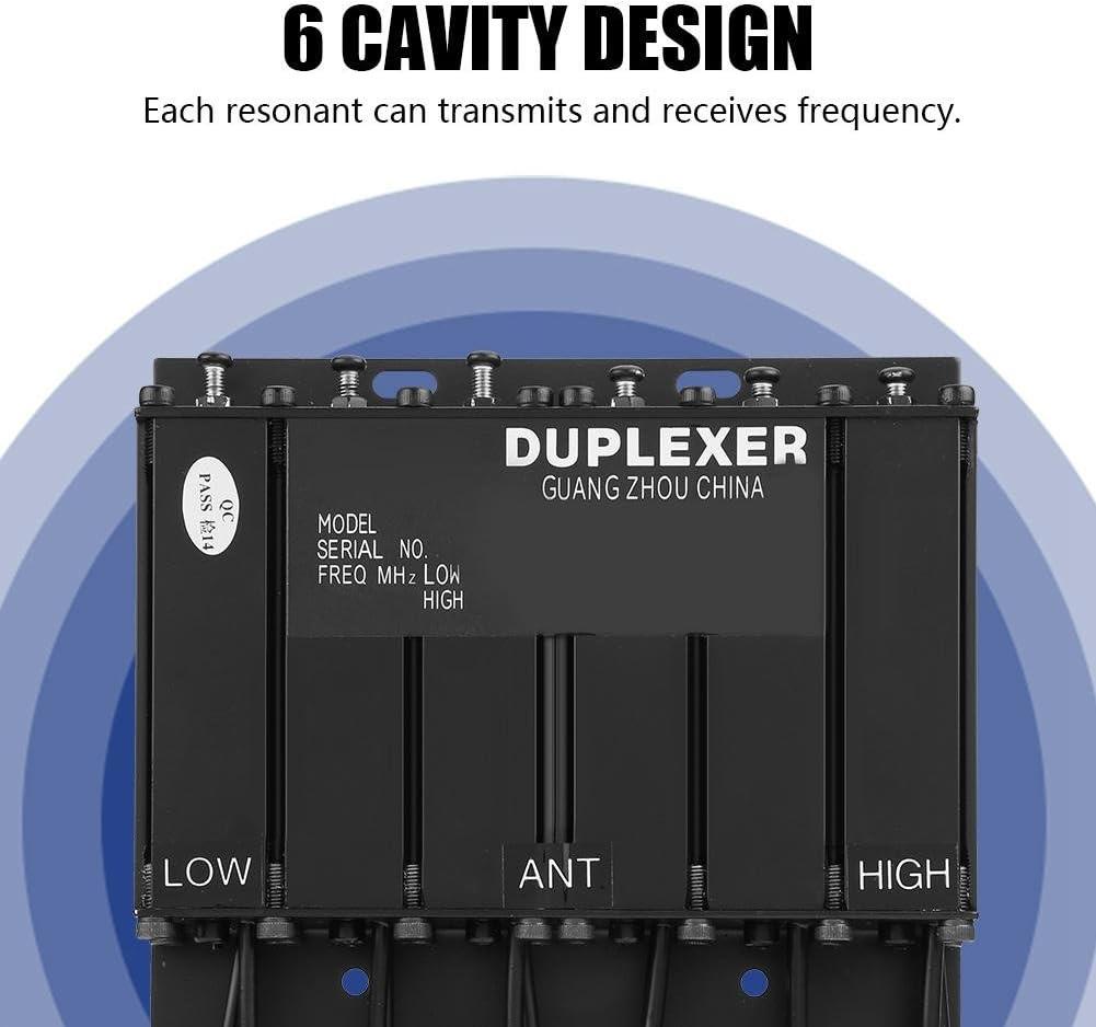 Bewinner 25W VHF Diplexor de Doble Cavidad para Repetidor de Radio Inalámbrico-N-Conector 25V Manejo de Potencia RF Diseño de 6 Cavidad-Dúplex para ...