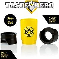 Taste Hero Bier-Aufbereiter, Flaschenaufsatz für Bier wie frisch gezapft, Macht Jede Bierflasche zum Zapfhahn, für Glas- und PET-Flaschen, spülmaschinengeeignet, weiß