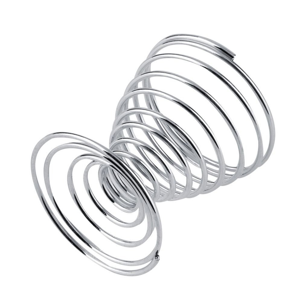 WillowswayW 2Pcs Metal Spiral Wire Tray Egg Cup Storage Holder Stand Kitchen Tool by WillowswayW (Image #2)