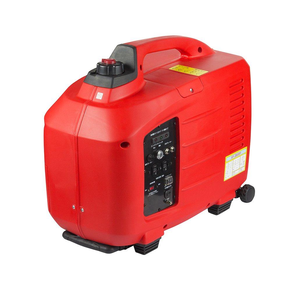 バイクパーツセンター インバーター発電機 SF2600F 100V2600W 赤(レッド) 909902