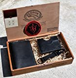 JP Leathercraft Handmade Cigar Box Gift Set Leather Passport cover Minimalist Wallet Key Keeper