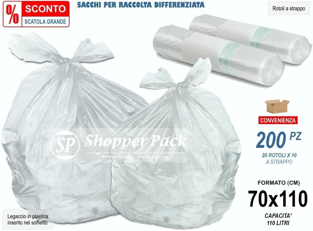 200 bolsas transparentes grandes de plástico LDPE (polietileno de ...