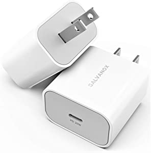 [2 Pack] 20W USB-C Wall Charger Plug - Designed for Fast Charging All iPhone 12, 11 and Pro/Max Models (Upgraded Power Adapter V.2) (2021)